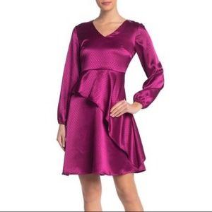 Spense Swiss Dot Ruffled Dress NWT